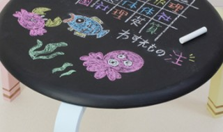 DIY 子供椅子 黒板
