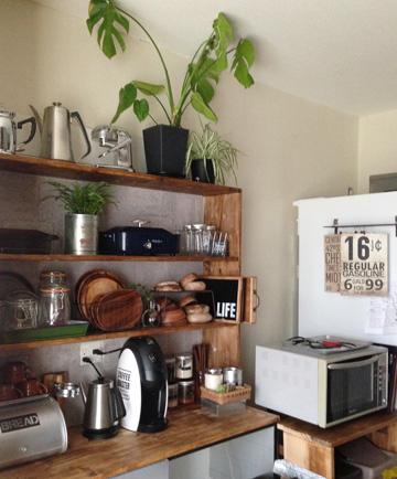 レンガ調壁紙 キッチン DIY