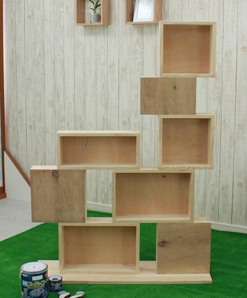 DIY ペンキ 棚
