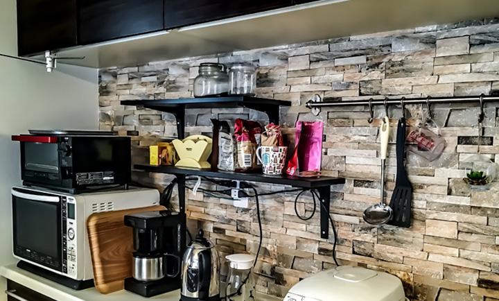 キッチン 壁紙 DIY