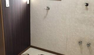 DIY 洗面所 壁紙 フローリング