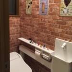 レンガ調 トイレ