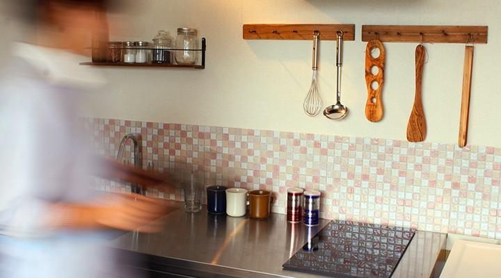 モザイクタイルシート キッチン