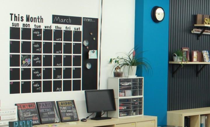 チョークボード カレンダー